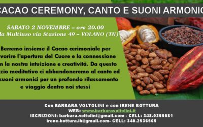 Cacao Ceremony, Canto e Suoni Armonici